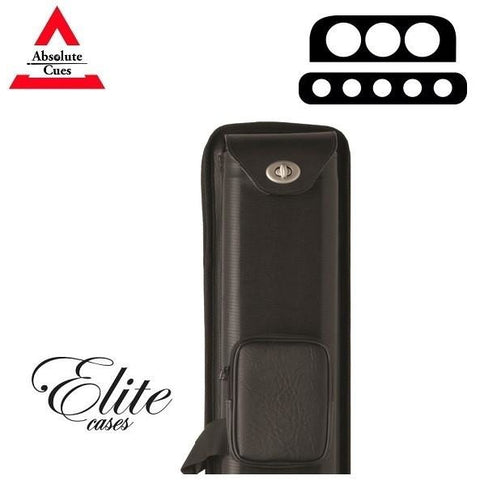 Elite Pool Cue Case - 3x5 - Nexus Hard Cue Case black - absolute cues