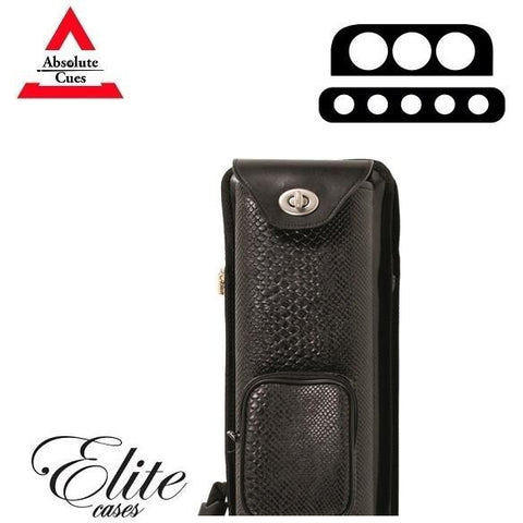 Elite Pool Cue Case - 3x5 - Nexus Reserve Hard Cue Case black - absolute cues