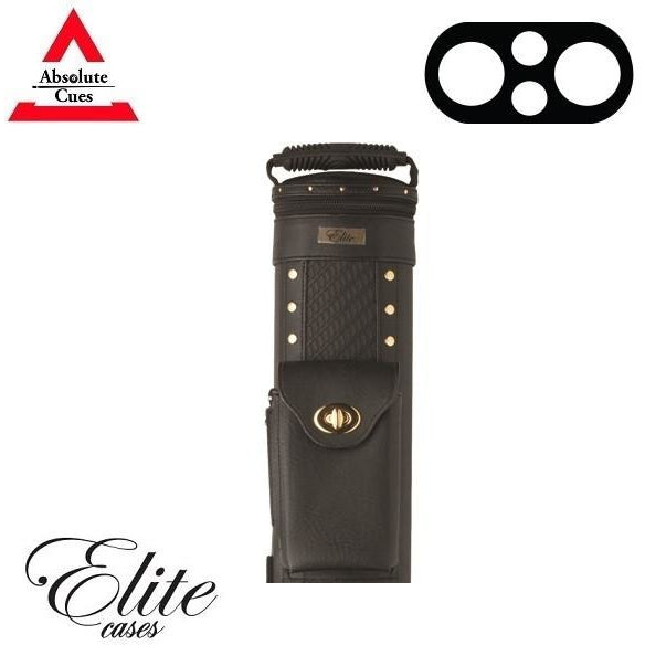 Elite Pool Cue Case - 2x2 - Prime Black Hard Cue Case - absolute cues