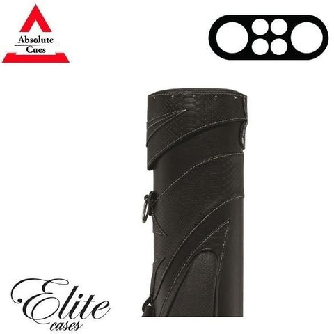 Elite Pool Cue Case - 2x4 -Saddle Bag Hard Cue Case - absolute cues