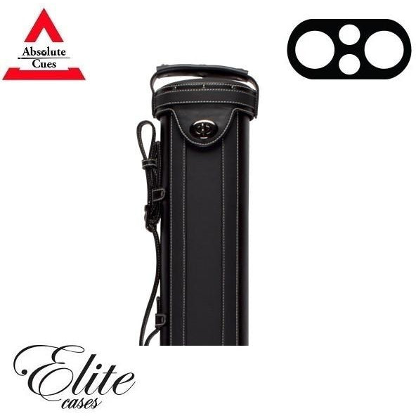 Elite Pool Cue Case - 2x2 - Vintage Leather Cue Case black - absolute cues