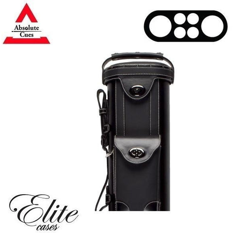 Elite Pool Cue Case - 2x4 - Vintage Leather Cue Case black - absolute cues