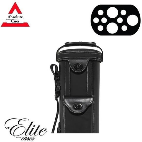 Elite Pool Cue Case - 3x7 - Vintage Leather Cue Case Black - absolute cues