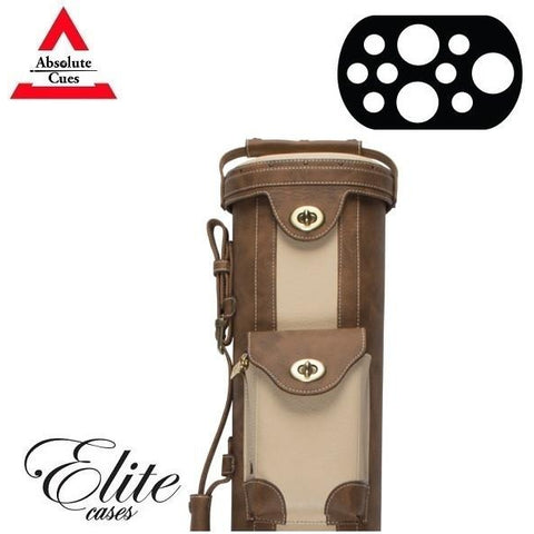 Elite Pool Cue Case - 3x7 - Vintage Leather Cue Case Chestnut - absolute cues