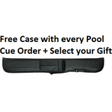 free case with every pool cue order - absolute cues