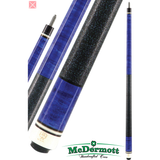 McDermott Pool Cue - G-Series, G201, G-Core Shaft, Blue With Wrap - absolute cues