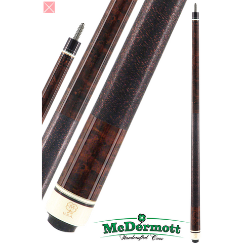McDermott Pool Cue - G-Series, G203, G-Core Shaft, Dark English W/Wrap - absolute cues