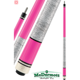McDermott Pool Cue - G-Series, G205, G-Core Shaft, Pink Spies W/Wrap - absolute cues