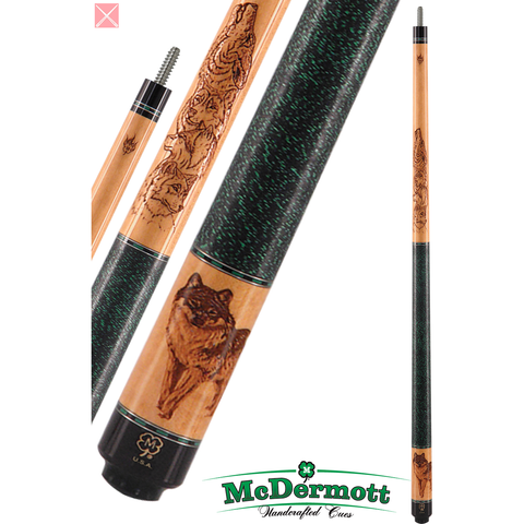 McDermott Pool Cue - G-Series, G218, G-Core Shaft, Wildfire Wolf - absolute cues