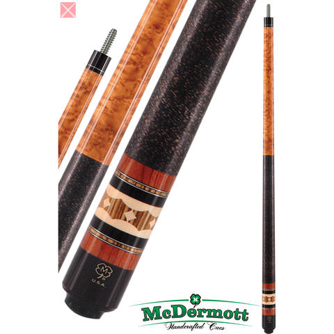 McDermott Pool Cue - G-Series, G309, G-Core Shaft, Bubinga, Bocote - absolute cues