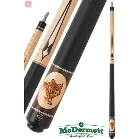 McDermott Pool Cue - G-Series, G320, G-Core Shaft, Wildfire Wolf Head - absolute cues