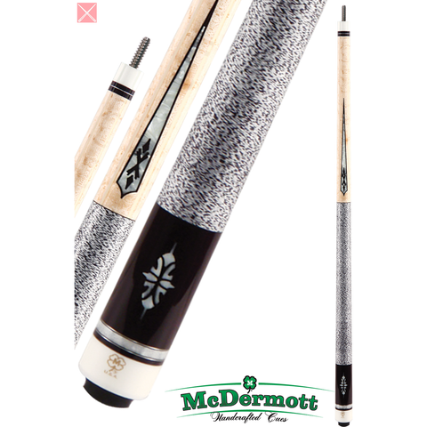 McDermott Pool Cue - G-Series, G323, G-Core Shaft, Black,Pearl Points - absolute cues