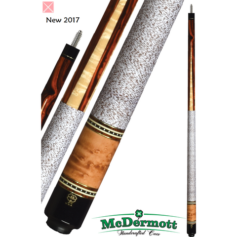 McDermott Pool Cue - G-Series, G330, G-Core Shaft, Brass, Cocobolo - ABSOLUTE CUES