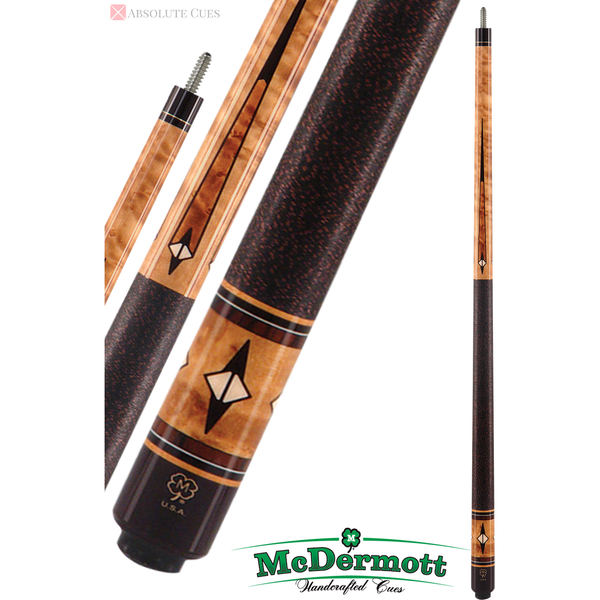McDermott Pool Cue - G-Series, G402, G-Core Shaft, Walnut Stain - absolute cues