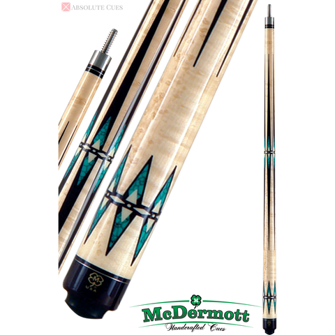 McDermott Pool Cue - G-Series, G605, G-Core Shaft, Black,Turquoise - absolute cues