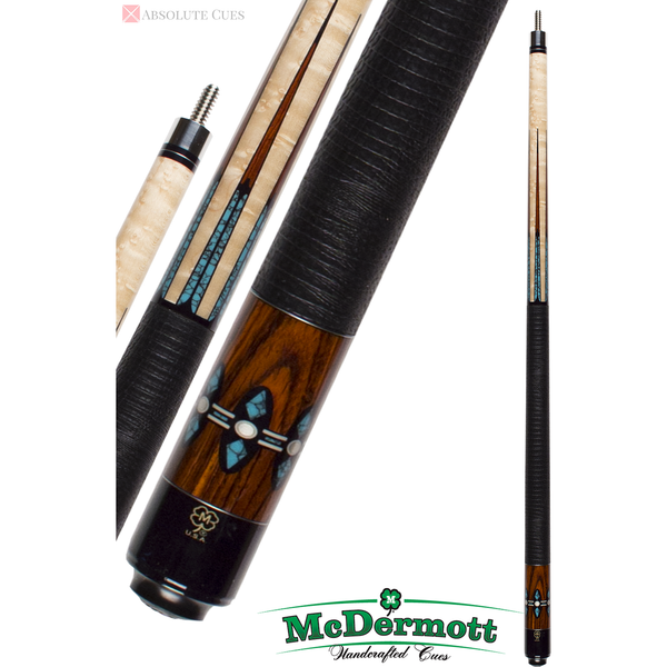 McDermott Pool Cue - G-Series, G606, G-Core Shaft, 24 Recon Ebony - absolute cues
