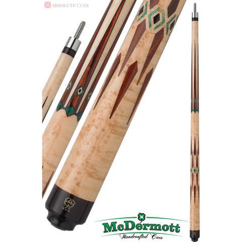 McDermott Pool Cue - G-Series, G708, Intimidator I-2 Shaft, Green - absolute cues