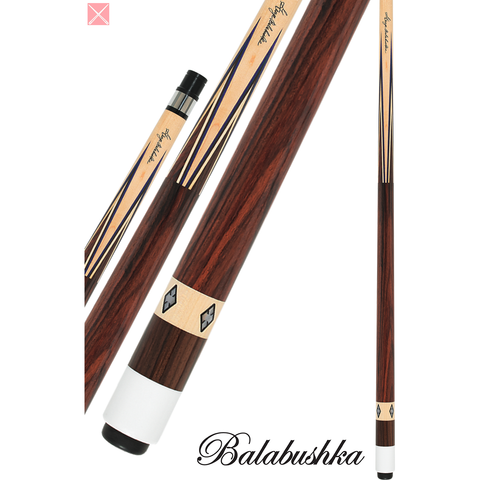 Balabushka Cues - GB-T - Rosewood With Pearl Diamonds - Signature - aBSOLUTE CUES