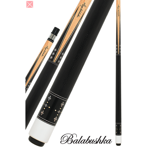 Balabushka Cues - GBGS - Maple W/ Ebony Points & Pearl Diamonds - absolute cues