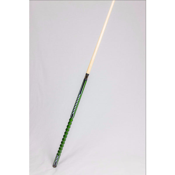 Stealth Pool Cue Ergonomic Grip Def 60 Green Lightning