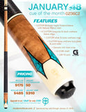 McDermott Pool Cue - G236C2 - McDermott January 2018 Cue Of The Month
