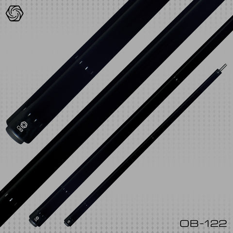 OB Cues - Pool Cues - OB-122 - Black Stain-  No Wrap  OB Plus Shaft - absolute cues
