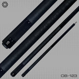 OB Pool Cues - Billiards - OB-123 - Black -  With Wrap  OB Plus Shaft - absolute cues