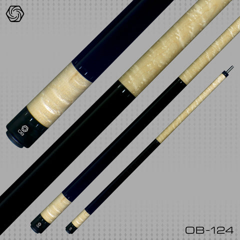 OB Pool Cues - OB-124 -  No Wrap -  OB Plus Shaft - Low Deflection - absolute cues