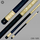 OB Pool Cues - OB-125 - W/Wrap, Birdseye - OB+ Shaft - Low Deflection - absolute cues