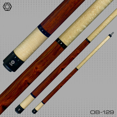 OB Pool Cues -OB-129 -Cocobolo No Wrap -OB+ Shaft -Low Deflection - absolute cues
