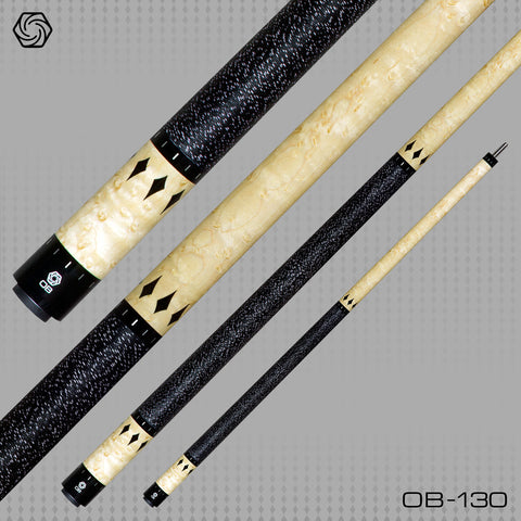 OB Pool Cues - OB-130 -Low Deflection -OB+ Shaft -Performance - absolute cues