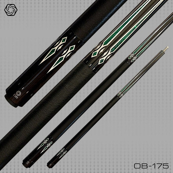 OB Pool Cues - OB-175 - Ebony Forearm - OB+ Shaft -Low Deflection - absolute cues