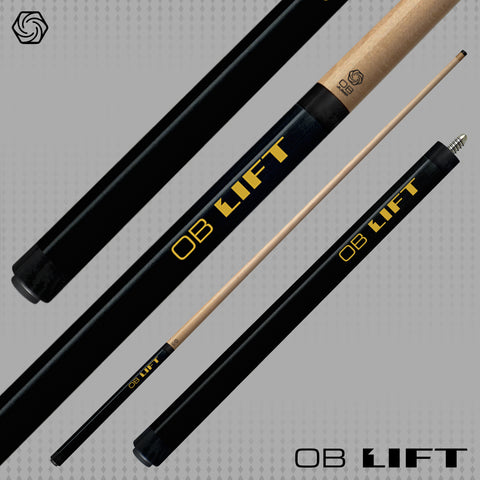 OB Cues - Lift Two Piece Jump Cue in Black - 13mm OB Jump Tip - absolute cues