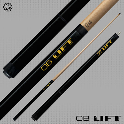 OB Cues - Lift Pro Three Piece Jump Cue Black - 13mm OB Jump Tip - ABSOLUTE CUES