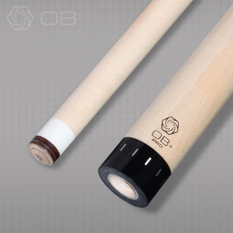 "OB Pro Plus shafts have a 3/8"" white ferrule - Ultra Low Deflection - absolute cues"