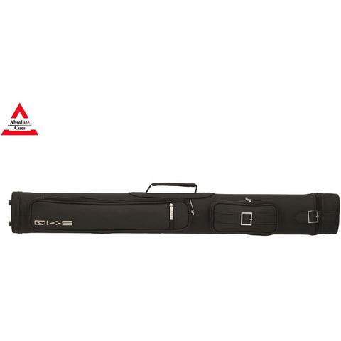 QK-S - 2x2 - Ray Hard Pool Cue Case black - absolute cues