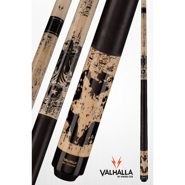 Valhalla Pool Cues - VA450 - By Viking Cues - Linen Wrap - Art Design - absolute cues