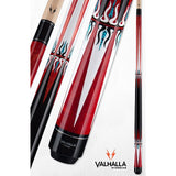 VALHALLA VA601 BEAUTIFUL RED POOL CUE - WWW.ABSOLUTECUES.COM