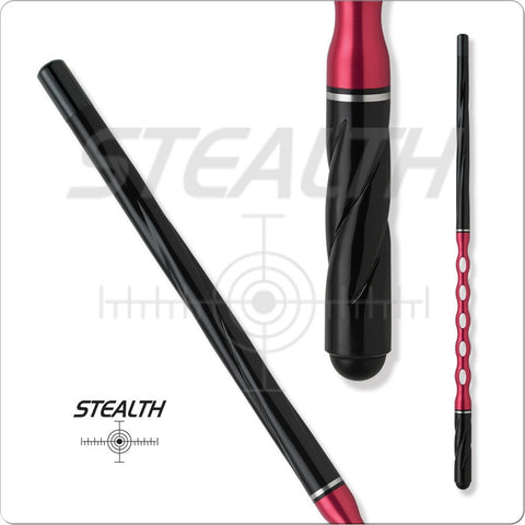 Stealth Pool Cue - Ergonomic Grip, STHA3, Pink Handle, Twisting Handle - absolute cues