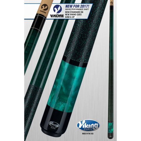Viking Pool Cue A282 - With ViKORE Performance Shaft & Wrap - absolute cues