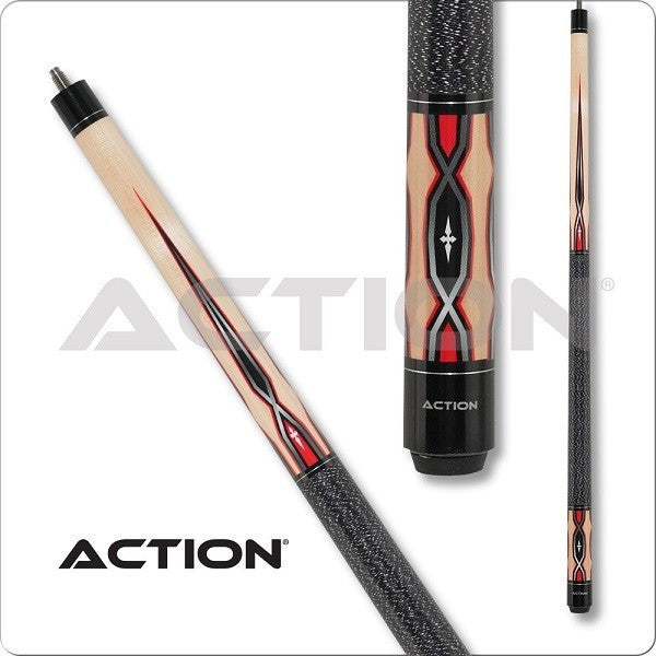 Action Pool Cues - Exotic Series - ACT146 - Black Linen Wrap - absolute cues