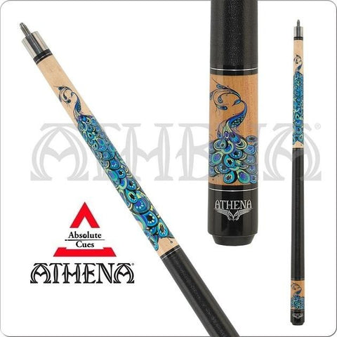 Athena Pool Cues - Woman Pool Cues - ATH47 - Peacock - absolute cues