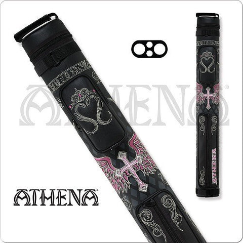 Athena Cue Case - Cue Case - ATHC06 - 2x2 Cross and Wing Design - absolute cues