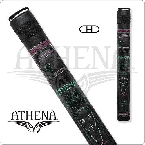 Athena Cue Case - Cue Case - ATHC07 - 2x2 Stitched Medusa Design - absolute cues