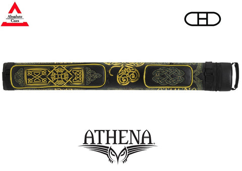 Athena Cue Case - Hard Case - ATHC11 - 2x2 Yellow Embroidery