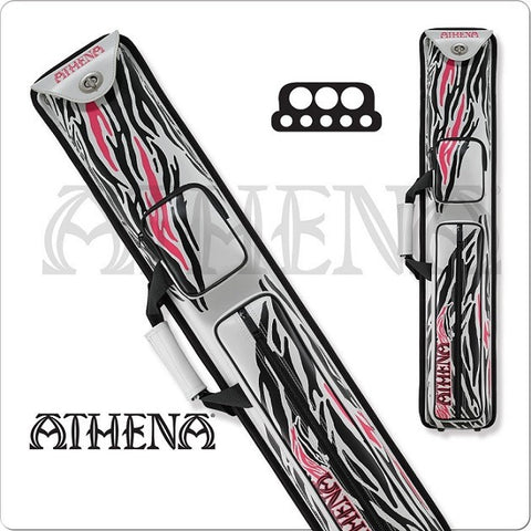 Athena Cue Case - 3x5 - Hard Cue Case - Zebra Design - absolute cues