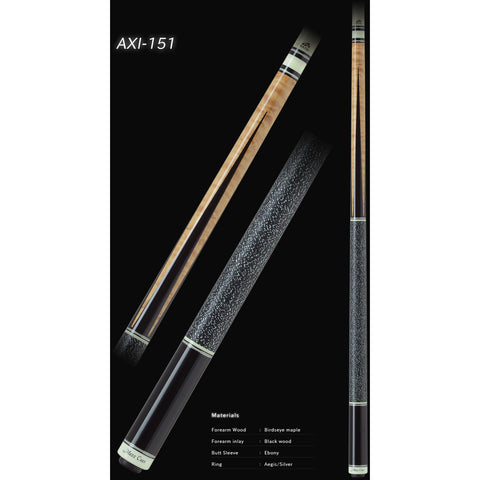 MEZZ Pool Cues - AXI Series - AXI-151 - WX700 Shaft, Wavy Joint - absolute cues