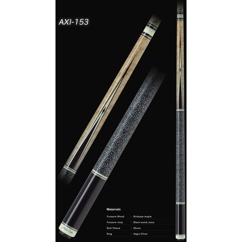 MEZZ Pool Cues - AXI Series - AXI-153 - WX700 Shaft, Wavy Joint - absolute cues