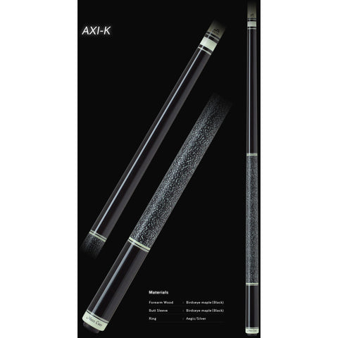 MEZZ Pool Cues - AXI Series - AXI-K - WX700 Shaft, Wavy Joint - absolute cues