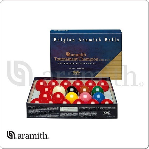 Aramith Billiards - BBAEPC - Pro Cup Tournament Champion Snooker Set - absolute cues